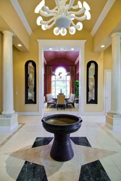 The entryway leads to the award winning dining room.